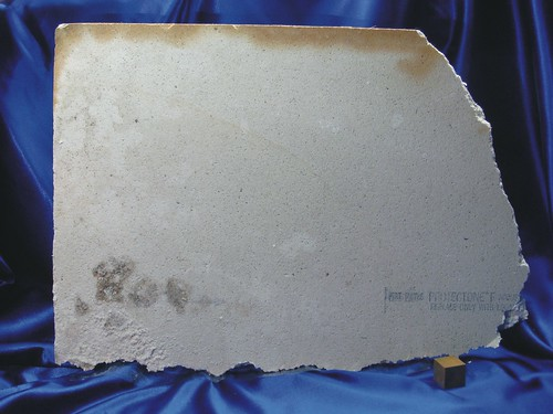Asbestos Ceiling Panel Reverse Overview Of The Reverse