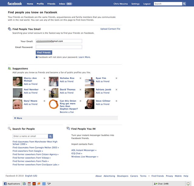 how to find rich friends on facebook