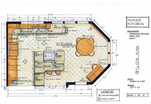 Foster kitchen design floor plan intr 224 residential for Kitchen planning tool