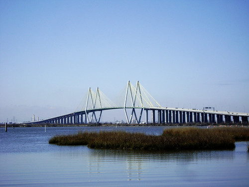 Fred Hartman Suspension Bridge, Hwy 146, Baytown, Texas 0220101111 | by Patrick Feller