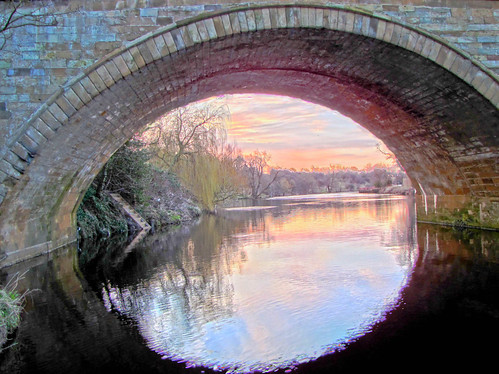 Through the oval window...Yarm. | by paul downing