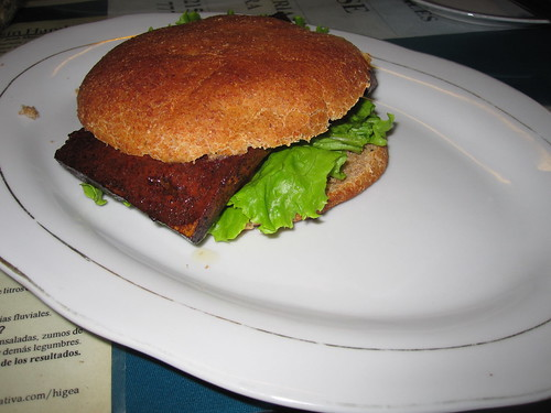 Tofu Burger | by veganbackpacker