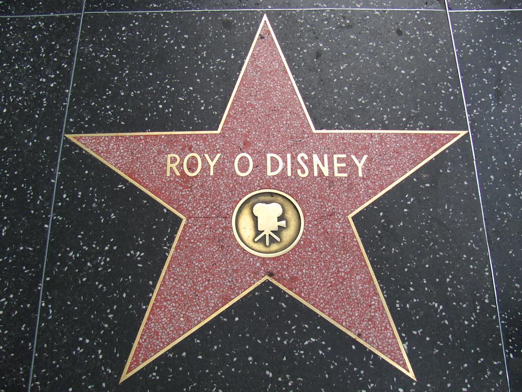 roy o disney s star on hollywood boulevard disney