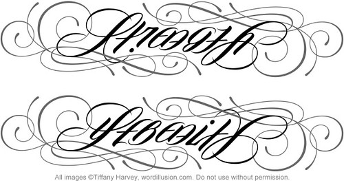 strength serenity ambigram a custom ambigram of the flickr. Black Bedroom Furniture Sets. Home Design Ideas