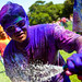 Holi festival : blue man