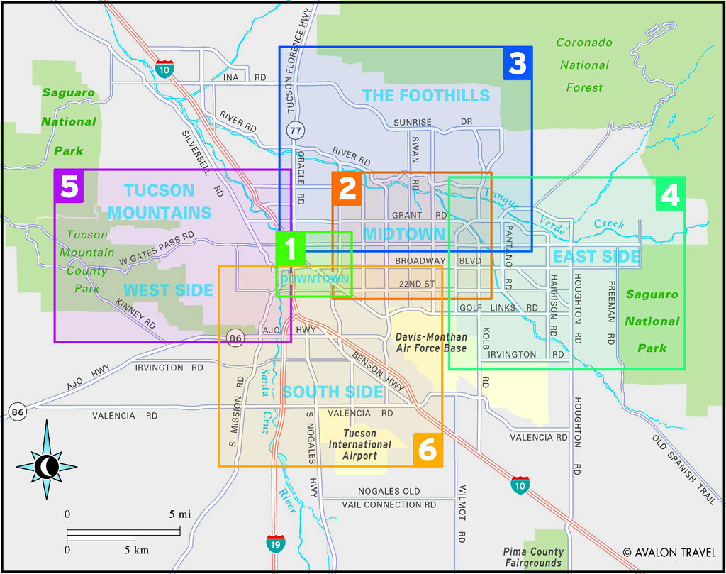 ... Greater Tucson travel map from Moon Tucson | by Moon Travel Guides