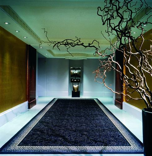 Spacious and art deco interior design of corridor at the H ...
