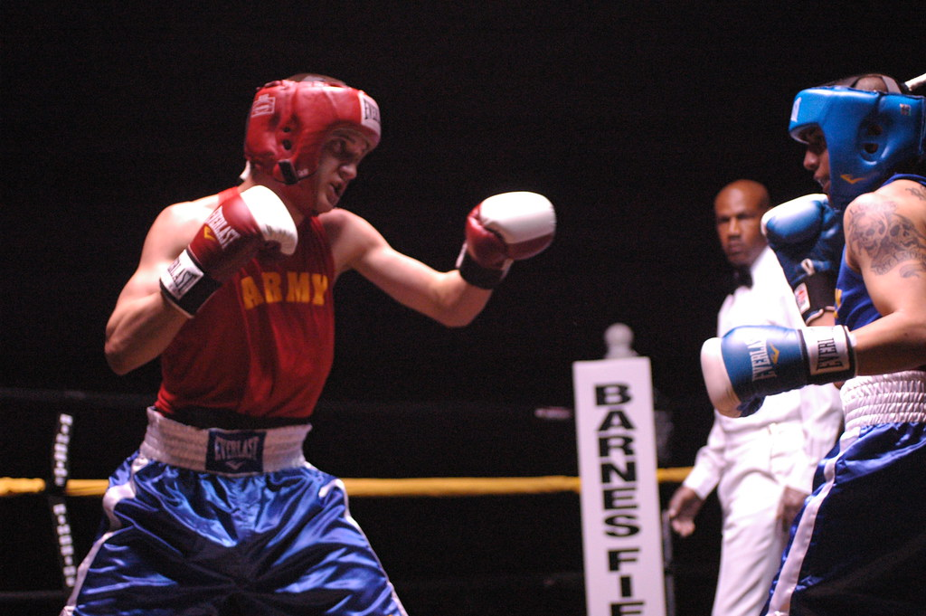 Army Boxing | Sgt. Matthew Fisher of Fort Polk, La., lands a… | Flickr