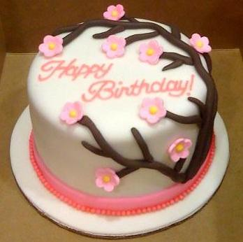 Cherry Blossom Birthday Cake By Bradycakes