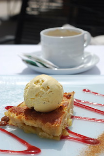 His apple pie + vanilla ice cream + coffee | by miss_yasmina