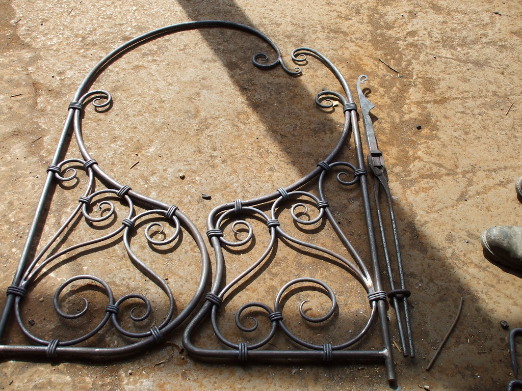 Traditionally hand forged iron gate by from
