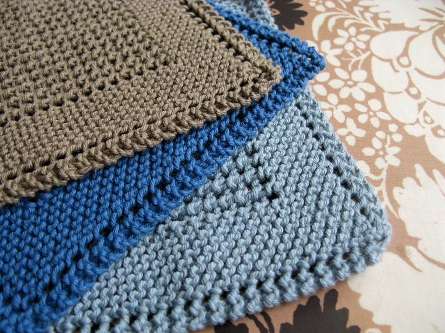 Free Knitted Slipper Patterns For Children : Diagonal Knit Dishcloth Flickr - Photo Sharing!