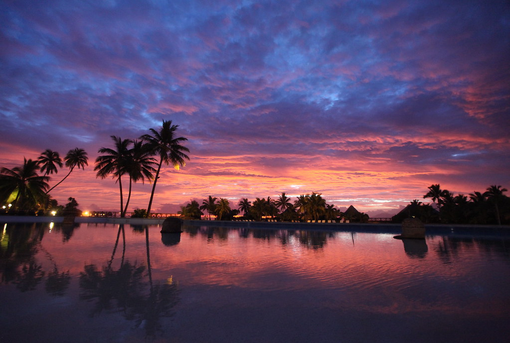 Hd Tropical Island Beach Paradise Wallpapers And Backgrounds: Tahitian Sunset
