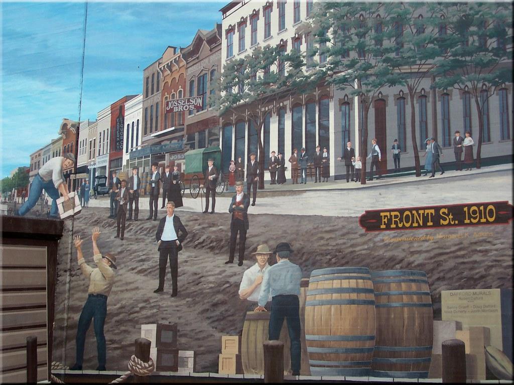 Front Street 1910 Catlettsburg Mural Kentucky