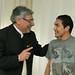 Fernando Lugo dialoga con el futbolista de la selección paraguaya, Salvador  Cabañas