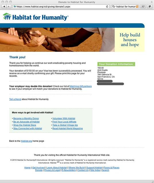 You Reblogged Our Job Listing Habitat Got Some Monies