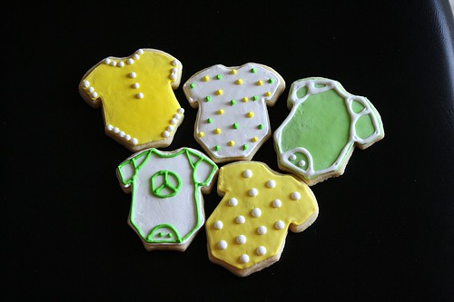 Baby Onesie Sugar Cookies | by Tracey's Culinary Adventures