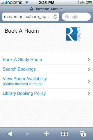 Booking Room Library Ramms