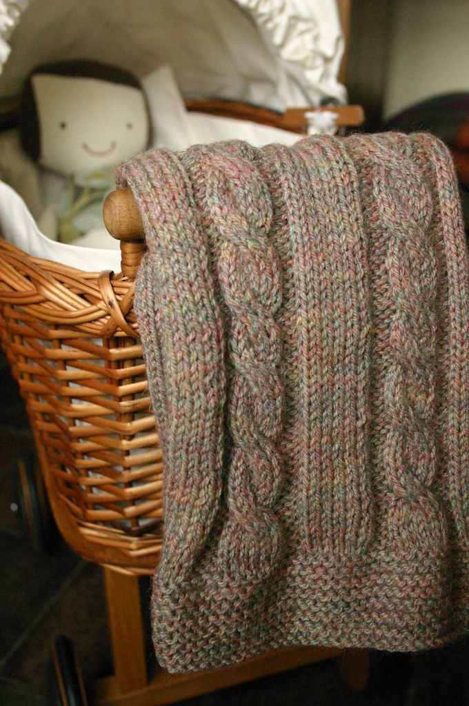 Cable Knit Dolls Blanket Free Knitting Pattern For This Ca Flickr