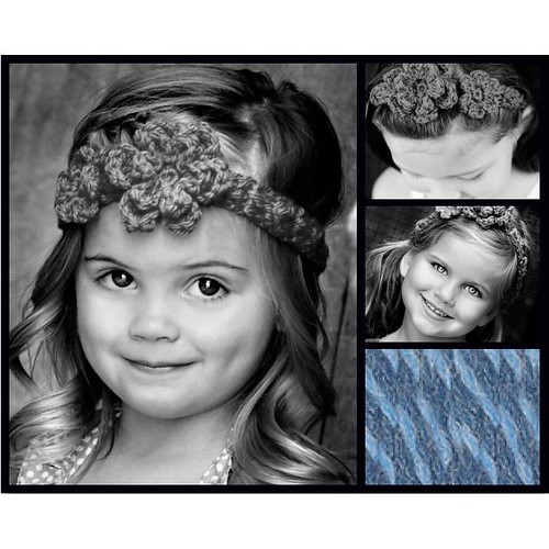 Kids Flowered Headband Mosaic | by pdxbeanies