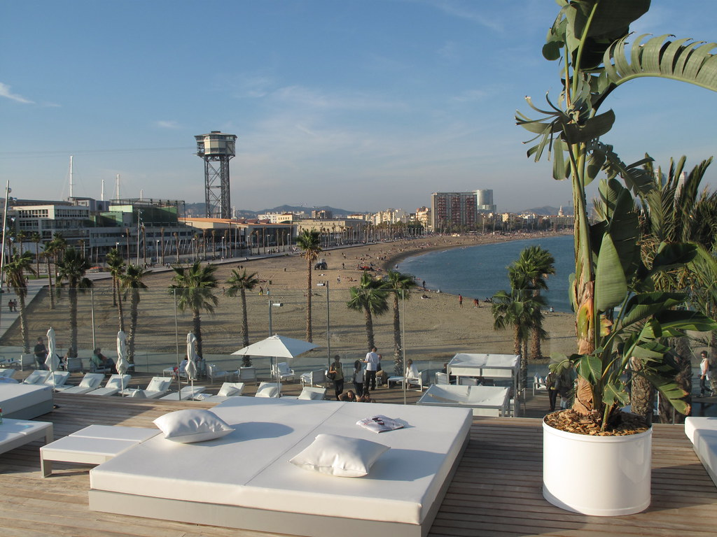 View of w hotel terrace in barcelona photo by guido de for What is a hotel terrace