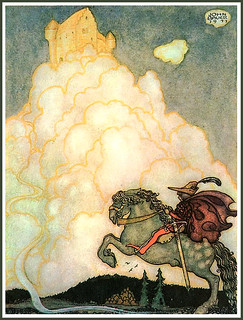 'Now he was riding, jubilantly happy' (c.1910) by John Bauer | by Plum leaves
