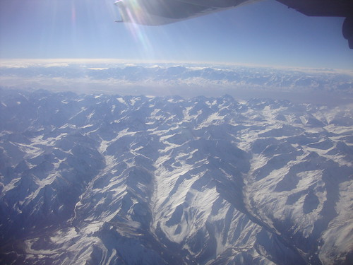 View from the window of the C-17 enroute to Bagram | by 10th CAB