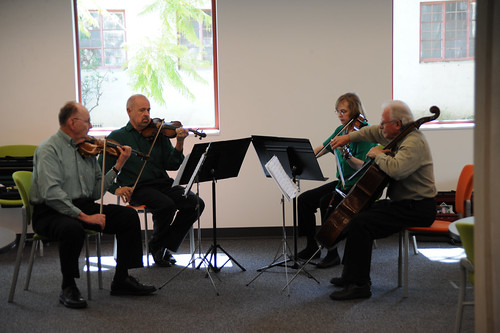 Channel Islands String Quartet performing at the Broome Library, March 2009 | by California State University Channel Islands