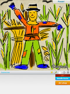 Scarecrow Drawing on iPad | by Daynah.net