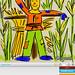 Scarecrow Drawing on iPad