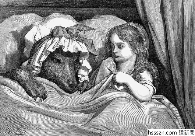 800px-GustaveDore_She_was_astonished_to_see_how_her_grandmother_looked-640x447_640_447
