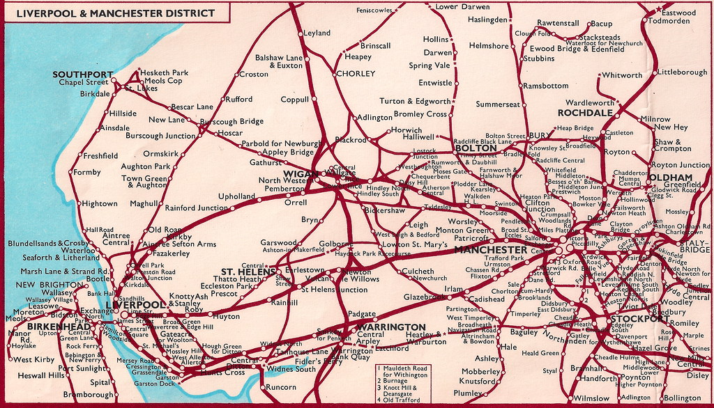 All sizes British Railways London Midland region rail map of