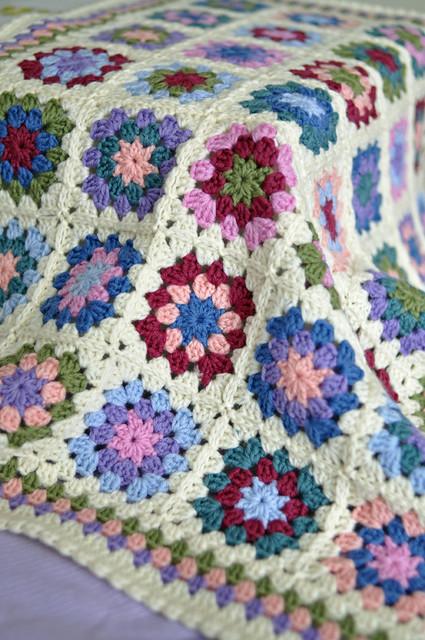 Free Crochet Lap Quilt Patterns : Summer Garden lap afghan poppy Flickr