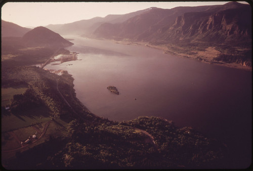 Just after Sunrise From a 7,000 Foot Elevation over the Columbia River Gorge, between the Dalles and the Hood River 05/1973 | by The U.S. National Archives