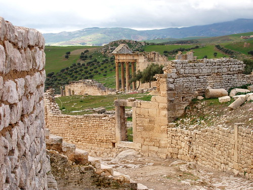 dougga capitol from theatre | by ukdamian