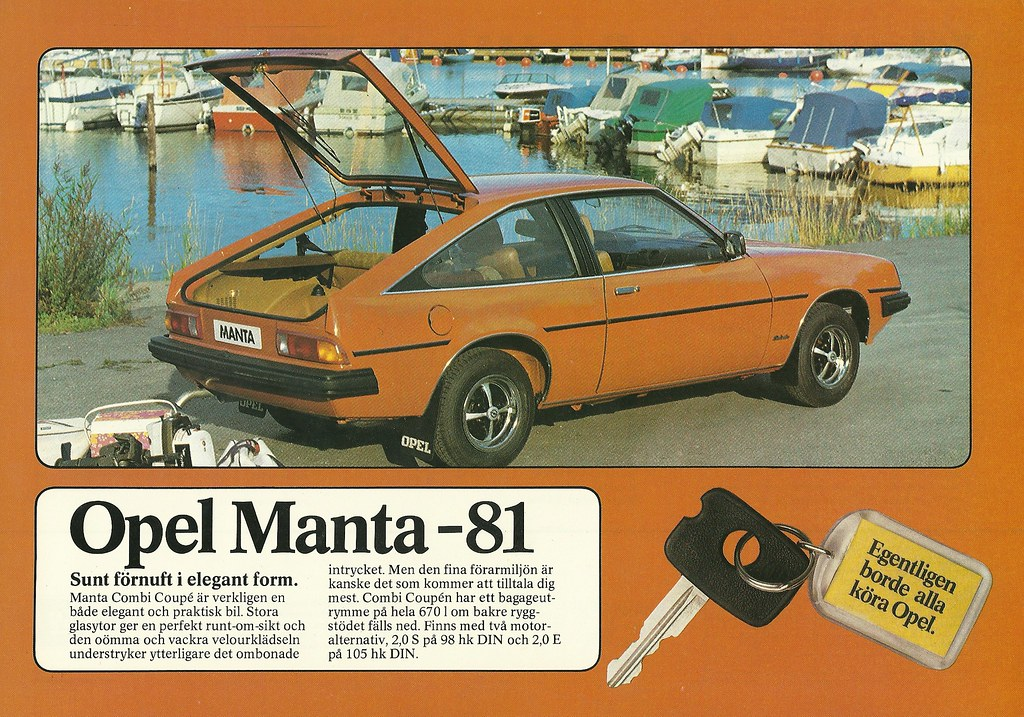 1981 Opel Manta Today I Am Posting Twenty One Ads From