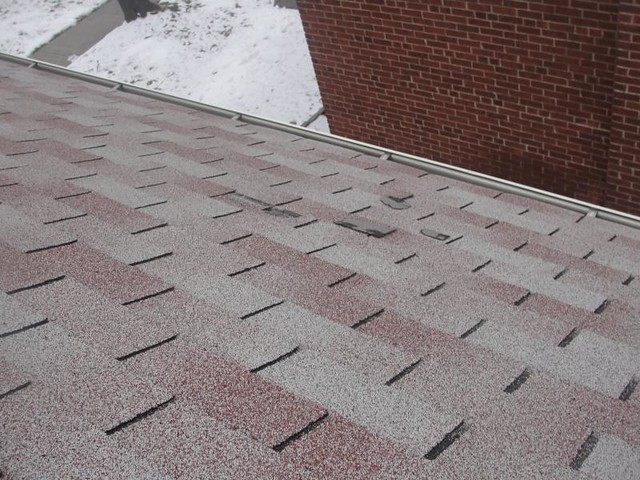 Missing Shingles Roof Is Very Old And Needs Replacing
