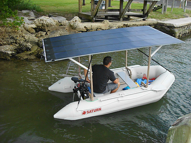 Solar Powered Inflatable Boat Made On A Base Of Saturn Sd3