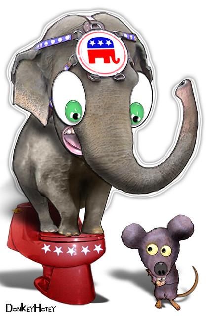 Republican Elephant   Republicans are afraid of ridiculous