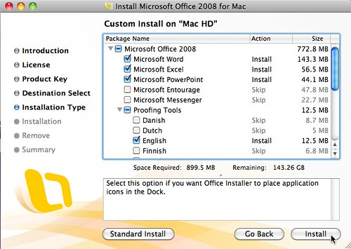 custom install microsoft office 2008 for mac by wesley fryer