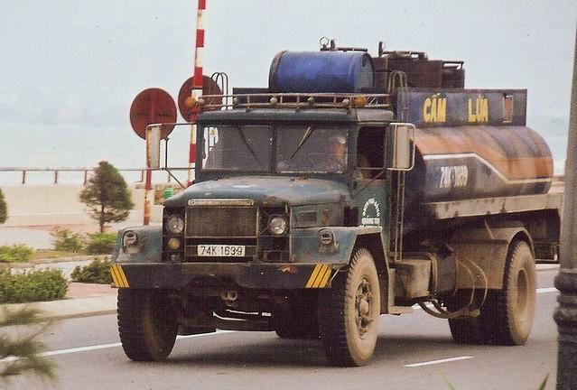 M54 5-Ton (modified) | Civilian truck in Viet Nam. Cab was ...