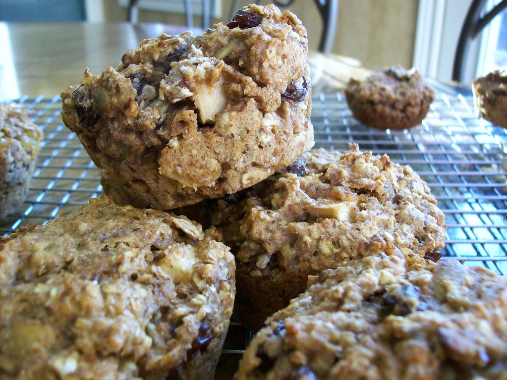 Rye... Oh My! | Triple-rye muffins with apples, applesauce ...