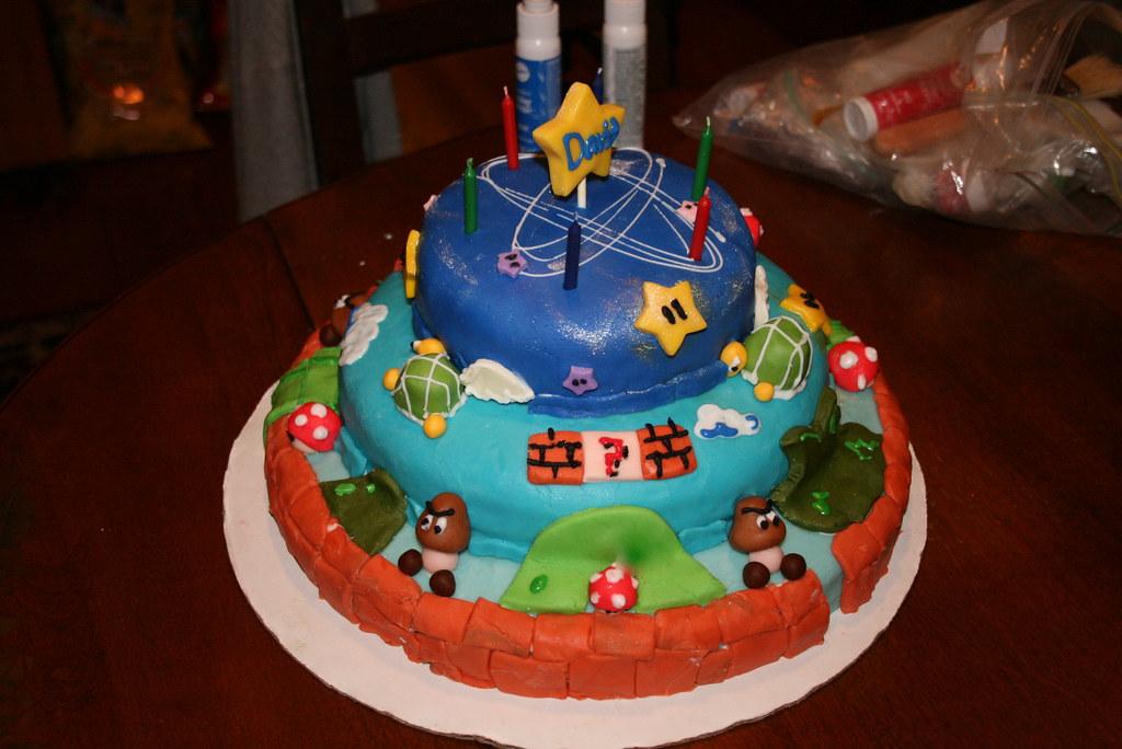 Mario Bros Cake For Ash And David Kristin Flickr