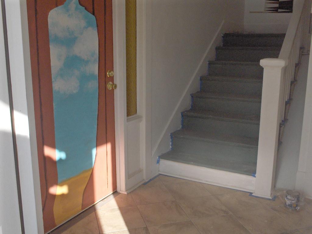 ... Magritte bottom of left door | by aiko-sumida & Magritte bottom of left door | Dressing up two doors. Graphiu2026 | Flickr