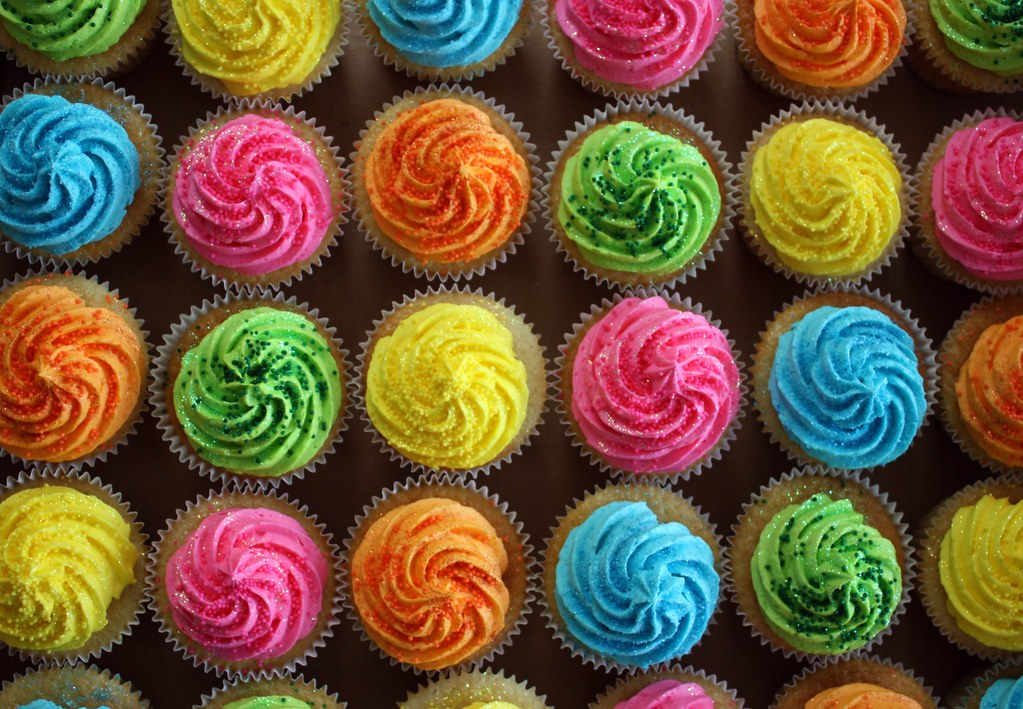 Bright Colored Birthday Cakes