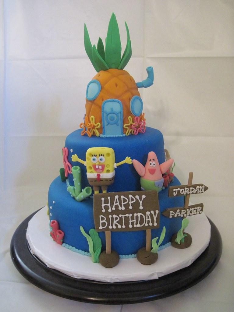 spongebob squarepants cake spongebob squarepants birthday u2026 flickr