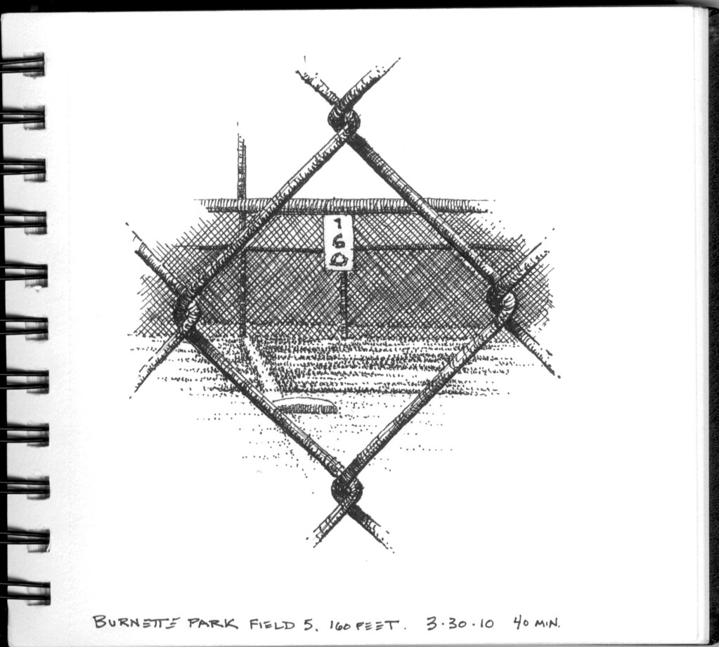 Chain Link Fence Drawing 160 feet through a chain link fence | another one from the b… | flickr