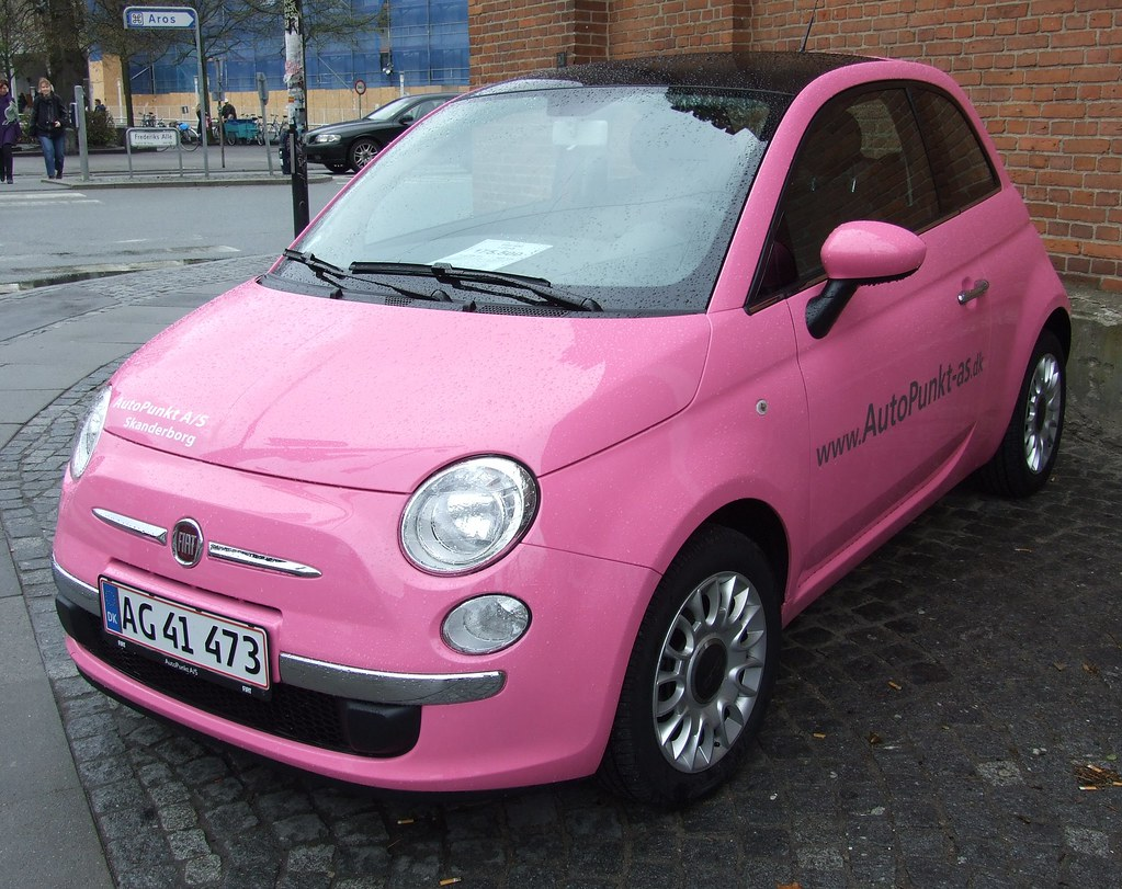 fiat 500 barbie edition this fiat 500 is one of a limited flickr. Black Bedroom Furniture Sets. Home Design Ideas