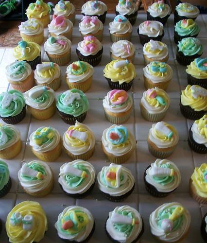 Baby Shower Cupcake Ideas Neutral : neutral baby shower cupcakes Sadie Busenbark Flickr
