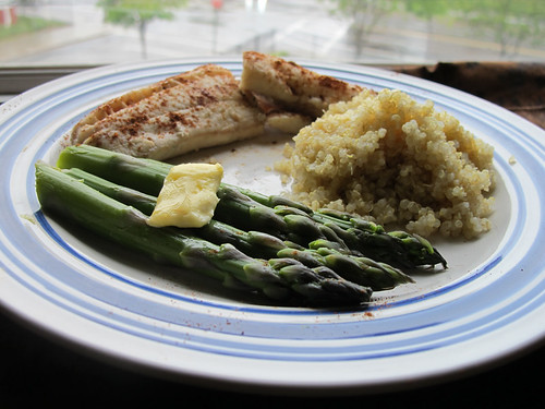 Poached fish in white wine haddock with quinoa for Poaching fish in wine